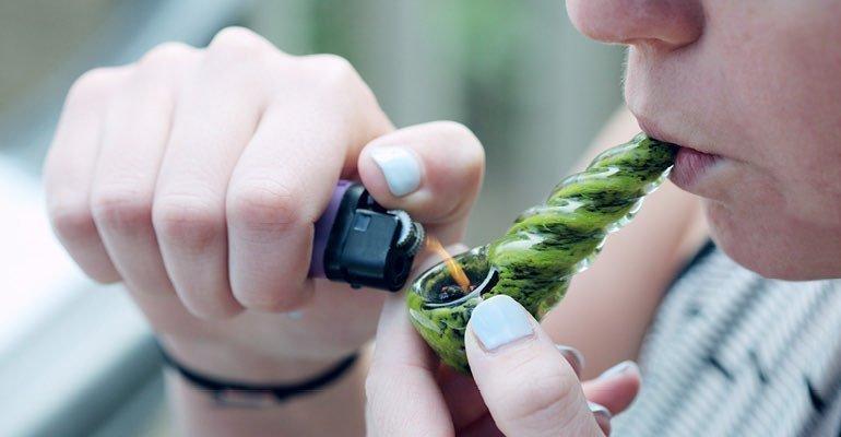 Efecto de fumar marihuana